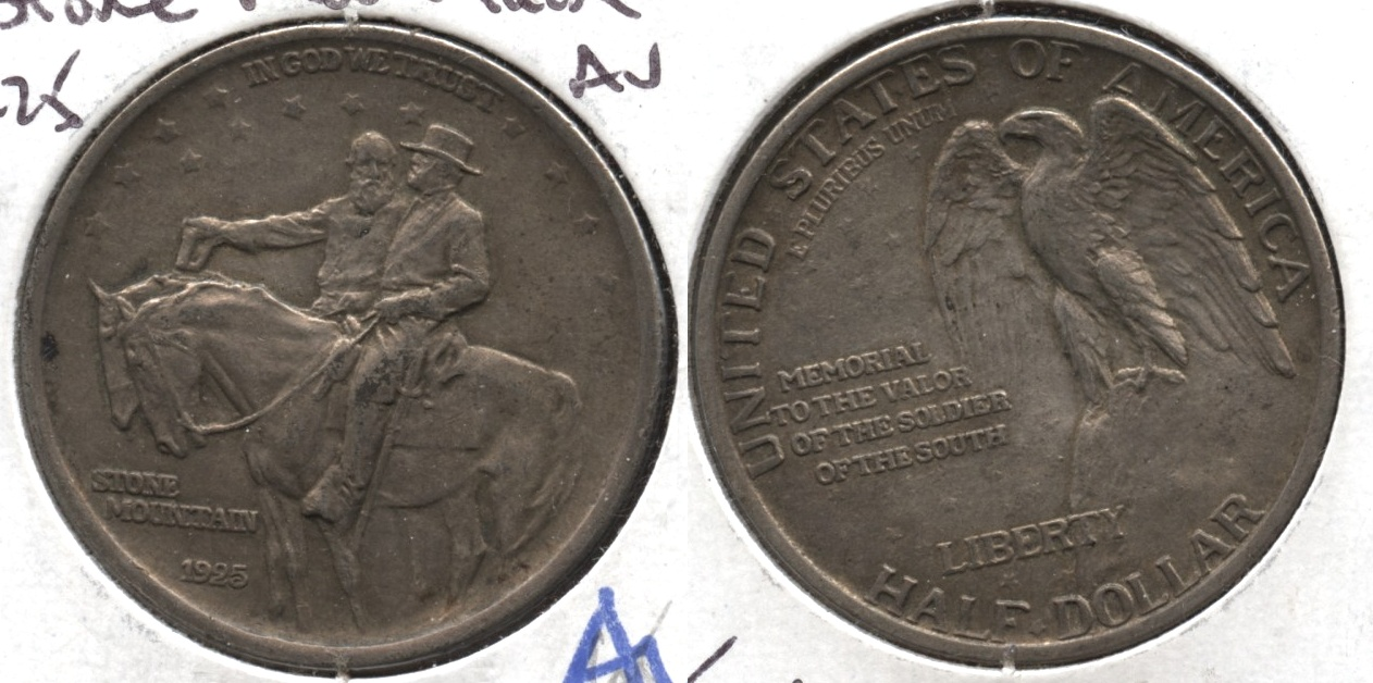 1925 Stone Mountain Commemorative Half Dollar AU-50 #c